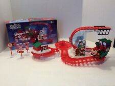 Euc Kurt S. Adler North Pole Express Train Playset, Complete in Box, Works Well