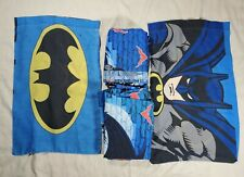 5 Piece Vintage Batman Robin FULL Flat Sheet Pillow Case Dan River Fabric 1999