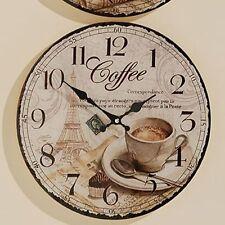 Wanduhr Coffee - D 34 cm, Glasuhr, Küchenuhr