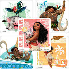 25 Disney Moana Stickers Party Favors Teacher Supply - Maui - Hei Hei