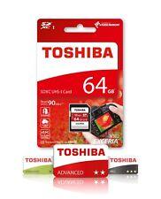 64GB SDXC Toshiba Memory Card For Canon EOS 1300D DSLR Camera Class 10 U3 4K