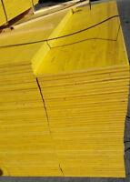 Schaltafel Schalung Schalbretter 1500 x 500 x 21mm  gelb Deckenschalung Holz