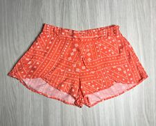 Seed Womens's Orange & White Relaxed Short Shorts with Frill Size 8