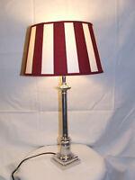 Lampenschirm / rund / - rot weiß gestreift - NEU