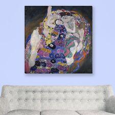 """WANDKINGS Leinwandbild Gustav Klimt - """"die Jungfrau"""" verschiedene Größen"""