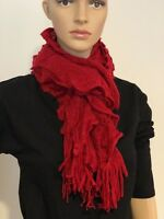 Women's Clothes Accessaries Ruffle Fringed Soft Knitted Warm Scarf Shawl Wrap