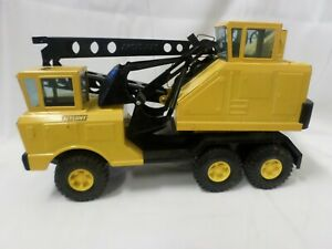 Vintage Nylint Pressed Steel Construction Toy Michigan Shovel Crane Truck Yellow