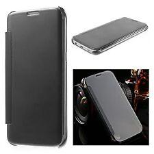Etui Housse Coque Clear View Cover miroir NOIR pour Apple Iphone 7