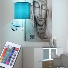 LED RVB tissu lumière murale chambre-salon Lampe Intensité Variable télécommande