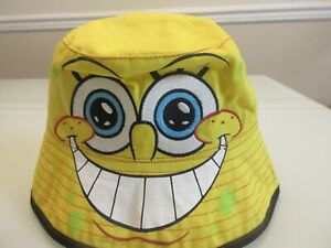 New Nicekodeon Spongebob Squarepants Character Boys Yellow Bucket Hat Summer Cap