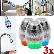 3Pcs Filter a Eau au Charbon activé Purificateur d'eau Pour Robinet cuisine Bain