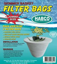 3 X SKIMMER BASKET FILTER BAG BAGS NET JUMBO SWIMMING SWIM POOL PUMP FILTER