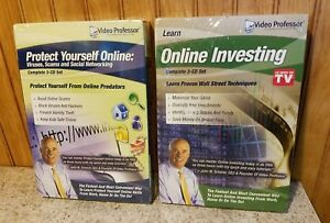 Video  Professor Online Investing & Protect Yourself Online lot of 2 (3 CD Set)