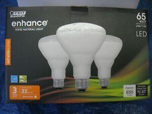 54 Pack Feit LED Flood Light Spot Bulb 65 Watt Equivalent BR30 Dimmable White