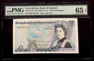 Bank Of England 5 Pounds,1988-1991,P-378,QEII,PMG 65 EPQ,Gem Uncirculated