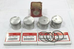 Honda Set Pistones Originales 0,25 Para CB500 Four K0-K1-K2-K3
