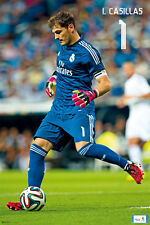 IKER CASILLAS Real Madrid La Liga Game Night Spanish Import Soccer POSTER