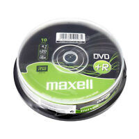 Maxell DVD+R Recordable Blank DVD Discs In Sleeves 4.7GB 120 Min 16x 1/5/10 Pack