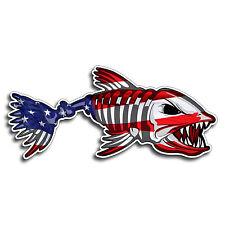 USA Bone Fish America Flag Sticker Decal Fishing Kayak Boat Car Truck Cup Cooler