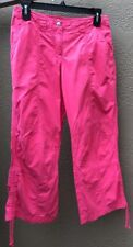 HTF OILILY Women's Sz. 36 EUR 6 US Capri Crop Pants Pink Lightweight Cotton