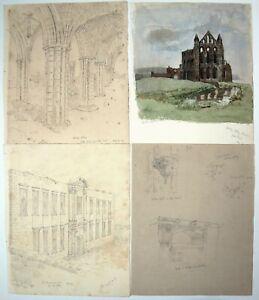 Raymond Turner Barker (1872-1945) Architect. Whitby Abbey 1896. Slade. R.A.