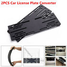 2PCS Car SUV License Plate Front + Rear Support Frame Silence Vehicle Converter