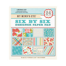 """My Mind's Eye  6x6201  """"A Mother's Love""""  6x6 Designer Paper Pad 24  Sheets"""