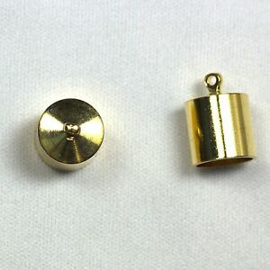 Silver 5mm piaceto 10 Sets Tube Copper Cord End Caps 5mm Kumihimo Glue In Barrel Jewelry Findings