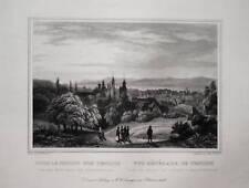 Teplitz Teplice Tschechien Ceska echter alter  Stahlstich 1842