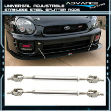 For 5.5-8 Stainless Steel Adjustable Front Rear Splitter Rods Support Stabalizer