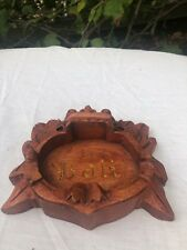 Hand Carved Sono Wood Ashtray Bali Indonesia