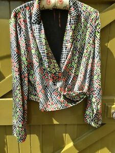 ANTHROPOLOGIE WRAP OVER LONG SLEEVED TOP