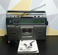 Vintage Sharp GF8080 radio cassette player  great working order w/manual & lead.