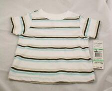 NWT Greendog T Shirt White With Stripes 18 Mos