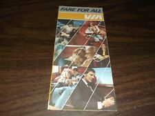 DECEMBER 1981 VIA RAIL CANADA NEW FARE FOR ALL BROCHURE