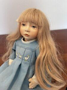 """Maggie Iacono felt artist doll Brooke, 66 of 75, 16"""", beautiful mint lovely doll"""