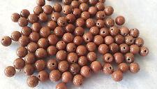 30 Arénarie-Aurifère perles semi-précieuses