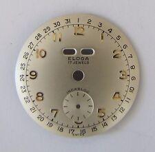 ETA 1162+1164 Zifferblatt ELOGA, Vollkalender mit kl. Sekunde, NOS swiss made