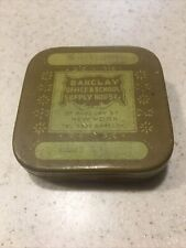 Barclays Office & School Supply House Vintage Typewriter Ribbon Tin