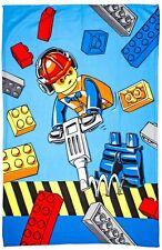 Lego City 'construction' Panel Fleece Blanket Throw Gift