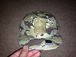 Reebok NFL shield camo hat fitted size 8 NWT camouflage