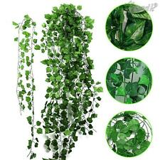 12x 1.9m artificial hiedra falso follaje secado flor verde hoja guirnalda planta