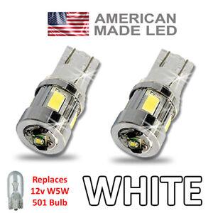 Kawasaki ZZR 1400 LED Side Light SUPER BRIGHT Bulbs 3w Cree W5W 501 T10