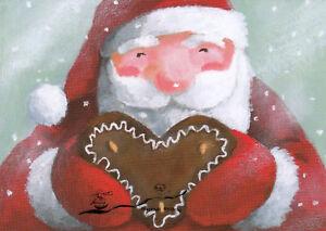 Postkarte: Henrike Wilson - Lebkuchennikolaus / Weihnachten Schnee
