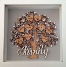 Personalised Family Tree Frame Christmas Birthday Preset Gift Keepsake