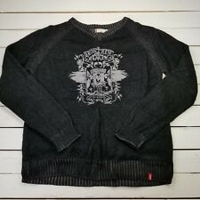 Levis Red Tab Sweater Mens Size XL Black Cotton Iron Crew Union Pull Over SW12