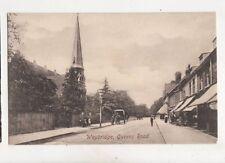 Weybridge Queens Road Vintage Postcard 368b