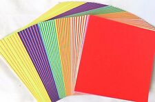 180 Sheets Japanese ORIGAMI CRAFT PAPERS - 24 colours 15 x 15cm