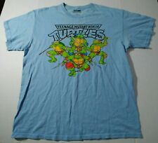 Teenage Mutant Ninja Turtles T-shirt Men's large Blue Pre-owned