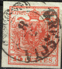 Lombardy-Venetia Coat of Arms classic stamp 1850 Brescia Postmark